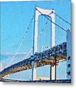 Rainbow Bridge In Tokyo Metal Print