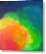 Rainbow Clouds Metal Print