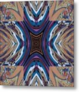 Rainbow Cross Metal Print by Ricky Kendall