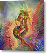 Rainbow Dragon Metal Print