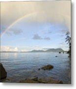 Rainbow Over Saturna Island Metal Print