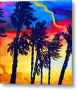 Rainbow Palms In Florida Metal Print