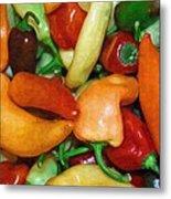 Rainbow Peppers Metal Print