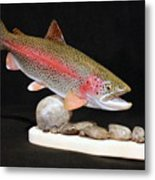 Rainbow Trout On The Rocks Metal Print by Eric Knowlton
