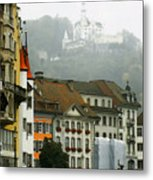 Rainy Day In Lucerne Metal Print