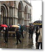 Rainy Day In Venice Metal Print