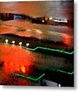 Rainy Night In Chinatown Metal Print by Dean Harte