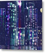 Rainy Night In The City Metal Print