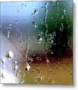 Rainy Window Abstract Metal Print