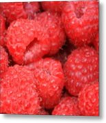 Raspberries Close-up Metal Print