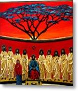 Rastafarian Last Supper Metal Print by EJ Lefavour