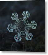 Real Snowflake - Ice Crown New Metal Print