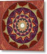 Realm Of The Desert Lotus Mandala Metal Print