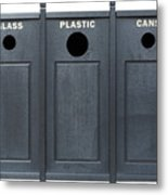 Recycle Bins For Glass Plastic Cans Metal Print