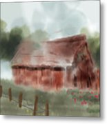Red Barn Metal Print
