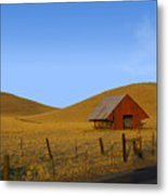 Red Barn Summer Metal Print