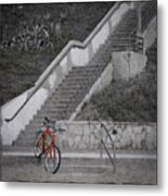 Red Bicycle Metal Print by Kevin Bergen