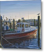 Red Boat At Galilee Metal Print
