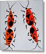 Red Bugs Metal Print