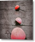 Red Buoys  Metal Print by Svetlana Sewell