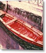 Red Canoe Metal Print by Linda Scharck