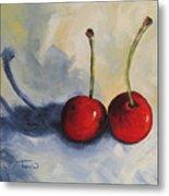 Red Cherries Metal Print