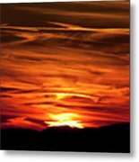 Red Clouds At Sunset Metal Print