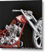 Red Embossed Custom Metal Print
