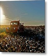 Red Fire Truck And The Sun Metal Print