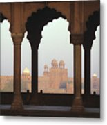 Red Fort From The Jama Masjid Metal Print