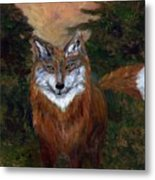 Red Fox - Www.jennifer-d-art.com Metal Print