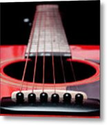 Red Guitar 16 Metal Print