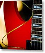 Red Guitar Metal Print by Hakon Soreide