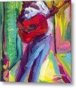 Red Guitar Metal Print