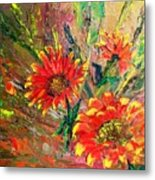 Red Hot Summer Flower Metal Print