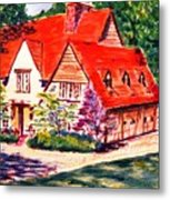 Red House In Clayton Metal Print
