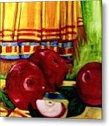 Red Juicy Apples Metal Print