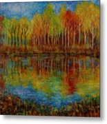 Red Lake. Metal Print