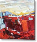 Red Landscape Metal Print