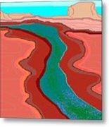 Red Mesa Metal Print