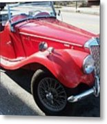 Red Mg Antique Car Metal Print