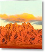 Red Mountain Sunset Organs Metal Print