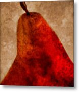 Red Pear II Metal Print by Carol Leigh