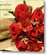 Red Roas Bouquet Jude 2 Metal Print