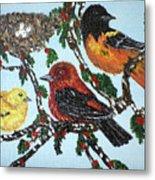 Red Robins Metal Print