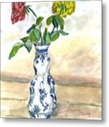 Red Rose Yellow Rose Metal Print