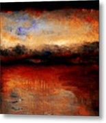Red Skies At Night Metal Print