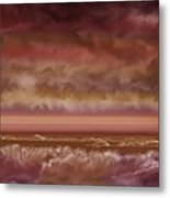 Red Sky At Night Sailor Delight Metal Print