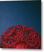 Red String Metal Print