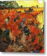 Red Vineyard Metal Print